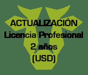 actualizacion licencia profesional 2 ano usd