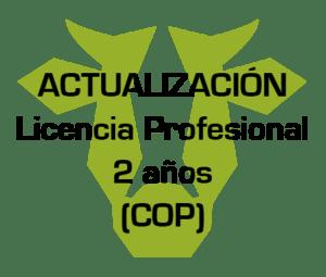 actualizacion licencia profesional 2 anos cop